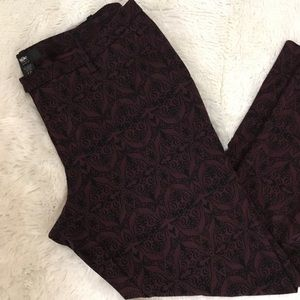 Mossimo Patterned Cropped Stretch Pants